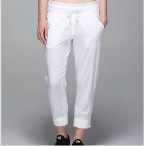 RARE Lululemon White Tear Away Pants